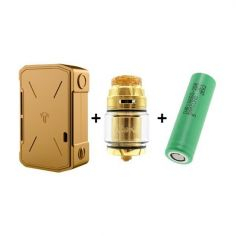 PACK Box Invader IV Gold Edition + Intake RTA Gold + 2 x 25R Samsung Teslacigs
